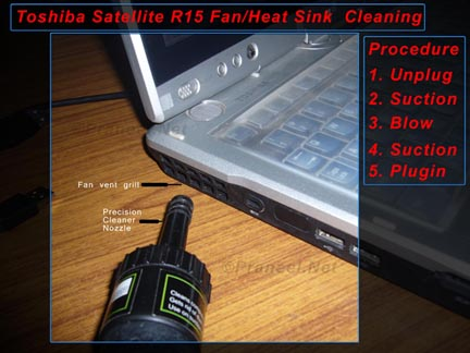 Toshiba Satellite R15 Tablet PC /Laptop Fan Cleaning